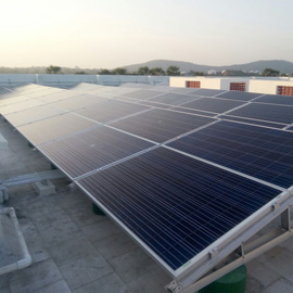 flat roof solar module mounting structure