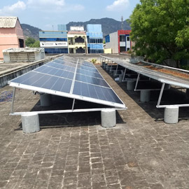 flat roof solar module mounting structure chennai