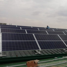 Metal sheet roof solar mounting structure chennai