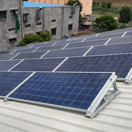 Metal sheet roof solar panel mounting structure