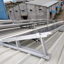 Metal sheet roof solar module mounting structure