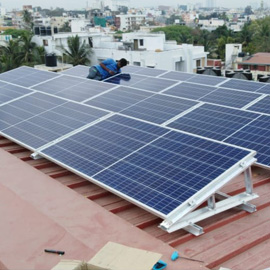 Metal sheet roof solar mounting structure